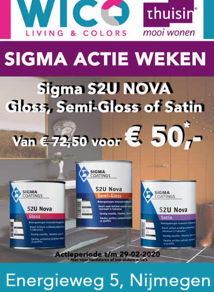 Sigma S2U Nova Gloss, Semi Gloss of Satin